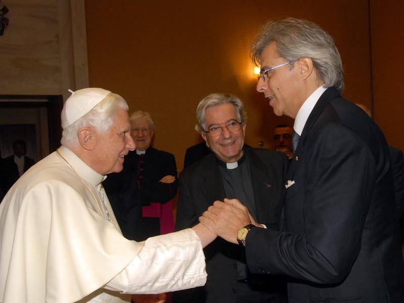Stefano meets Pope Benedict XVI