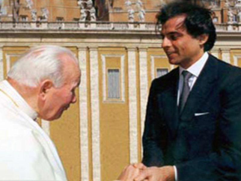 Stefano meets Pope John Paul II